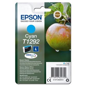 Epson originální ink C13T12924012, T1292, cyan, 485str., 7ml