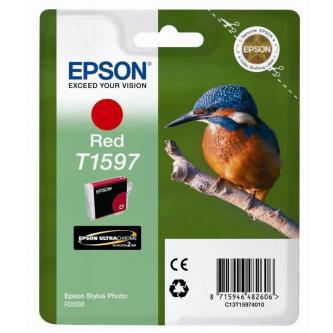 Epson originální ink C13T15974010, red, 17ml, Epson Stylus Photo R2000