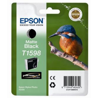 Epson originální ink C13T15984010, matte black, 17ml, Epson Stylus Photo R2000