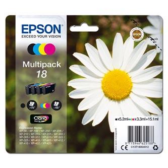 Epson originální ink C13T18064012, T180640, CMYK, 3x3,3/5,2ml, Epson Expression Home XP-102, XP-402, XP-405, XP-302