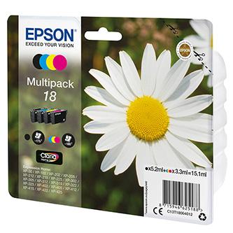 Epson originální ink C13T18064022, T180640, CMYK, blistr, 3x3,3/5,2ml, Epson Expression Home XP-102, XP-402, XP-405, XP-302