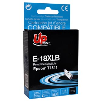 UPrint kompatibilní ink s C13T18114010, 18XL, black, 470str., 15ml, E-18XLB, pro Epson Expression Home XP-102, XP-402, XP-405, XP-
