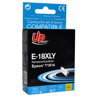 UPrint kompatibilní ink s C13T18144010, 18XL, yellow, 450str., 10ml, E-18XLY, pro Epson Expression Home XP-102, XP-402, XP-405, XP