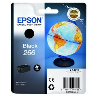 Epson originální ink C13T26614010, 266, black, 5,8ml, Epson WF-100W