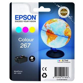 Epson originální ink C13T26704010, 267, color, 6,7ml, Epson WF-100W