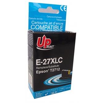 UPrint kompatibilní ink s C13T27124010, 27XL, cyan, 1100str., 13ml, pro Epson WF-3620, 3640, 7110, 7610, 7620
