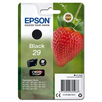 Epson originální ink C13T29814012, T29, black, 5,3ml, Epson Expression Home XP-235,XP-332,XP-335,XP-432,XP-435