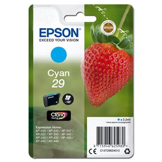 Epson originální ink C13T29824012, T29, cyan, 3,2ml, Epson Expression Home XP-235,XP-332,XP-335,XP-432,XP-435