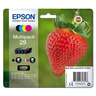 Epson originální ink C13T29864012, T29, CMYK, 5,3/3x3,2ml, Epson Expression Home XP-235,XP-332,XP-335,XP-432,XP-435