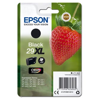 Epson originální ink C13T29914012, T29XL, black, 11,3ml, Epson Expression Home XP-235,XP-332,XP-335,XP-432,XP-435