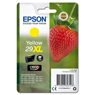 Epson originální ink C13T29944012, T29XL, yellow, 6,4ml, Epson Expression Home XP-235,XP-332,XP-335,XP-432,XP-435
