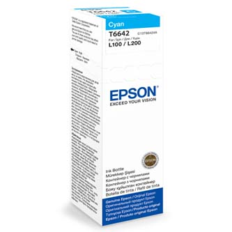 Epson originální ink C13T66424A, cyan, 70ml, Epson L100, L200, L300