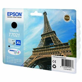 Epson originální ink C13T70214010, XL, black, 2400str., Epson WorkForce Pro WP4000, 4500 s