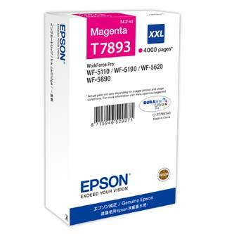 Epson originální ink C13T789340, T789, XXL, magenta, 4000str., 34ml, 1ks, Epson WorkForce Pro WF-5620DWF, WF-5110DW, WF-5690DWF
