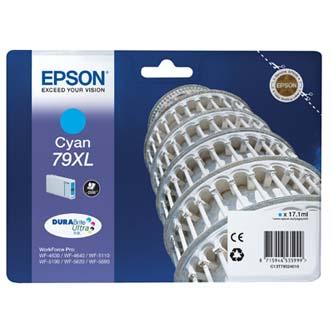 Epson originální ink C13T79024010, 79XL, XL, cyan, 2000str., 17ml, 1ks, Epson WorkForce Pro WF-5620DWF, WF-5110DW, WF-5690DWF