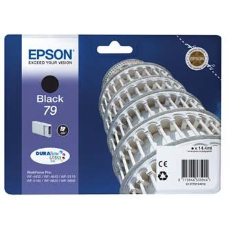 Epson originální ink C13T79114010, 79, L, black, 900str., 14ml, 1ks, Epson WorkForce Pro WF-5620DWF, WF-5110DW, WF-5690DWF