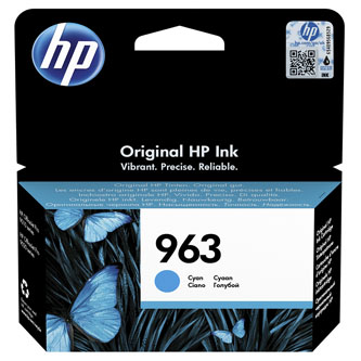 HP originální ink 3JA23AE#301, HP 963, cyan, blistr, 700str., 10.77ml, HP Officejet Pro 9010, 9012, 9014, 9015, 9016, 9019/P