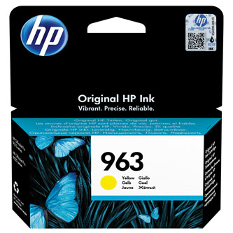 HP originální ink 3JA25AE#301, HP 963, yellow, blistr, 700str., 10.77ml, HP Officejet Pro 9010, 9012, 9014, 9015, 9016, 9019/P