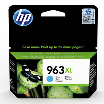 HP originální ink 3JA27AE, HP 963XL, cyan, 1600str., 22.92ml, high capacity, HP Officejet Pro 9012, 9014, 9015, 9016, 9019/P