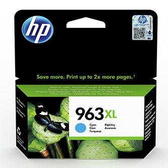 HP originální ink 3JA27AE#301, HP 963XL, cyan, blistr, 1600str., 22.92ml, high capacity, HP Officejet Pro 9012, 9014, 9015, 9016,