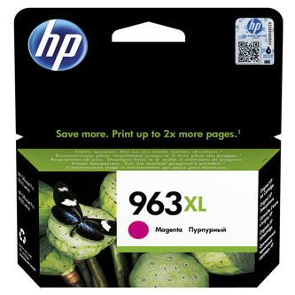 HP originální ink 3JA28AE, HP 963XL, magenta, 1600str., 22.92ml, high capacity, HP Officejet Pro 9012, 9014, 9015, 9016, 9019/P
