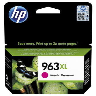 HP originální ink 3JA28AE#301, HP 963XL, magenta, blistr, 1600str., 22.92ml, high capacity, HP Officejet Pro 9012, 9014, 9015, 901
