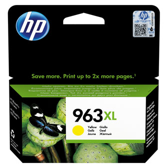 HP originální ink 3JA29AE, HP 963XL, yellow, 1600str., 22.92ml, high capacity, HP Officejet Pro 9012, 9014, 9015, 9016, 9019/P