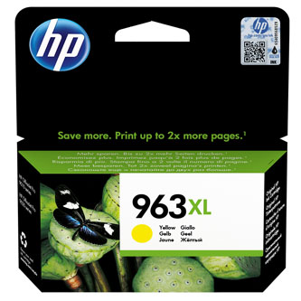 HP originální ink 3JA29AE#301, HP 963XL, yellow, blistr, 1600str., 22.92ml, high capacity, HP Officejet Pro 9012, 9014, 9015, 9016