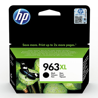 HP originální ink 3JA30AE, HP 963XL, black, 2000str., 48ml, high capacity, HP Officejet Pro 9012, 9014, 9015, 9016, 9019/P