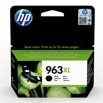 HP originální ink 3JA30AE#301, HP 963XL, black, blistr, 2000str., 48ml, high capacity, HP Officejet Pro 9012, 9014, 9015, 9016, 90