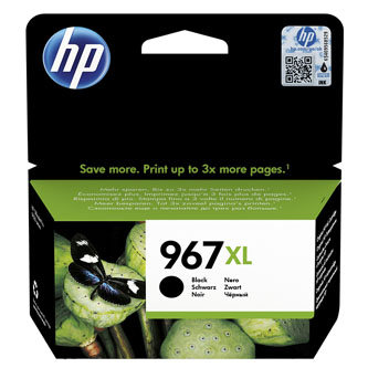 HP originální ink 3JA31AE#301, HP 967, black, blistr, 3000str., 68.7ml, extra high capacity, HP Officejet Pro 9012, 9014, 9015, 90