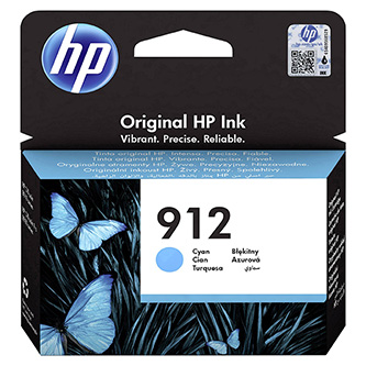 HP originální ink 3YL77AE#301, HP 912, cyan, blistr, 315str., high capacity, HP Officejet 8012, 8013, 8014, 8015 Officejet Pro 802