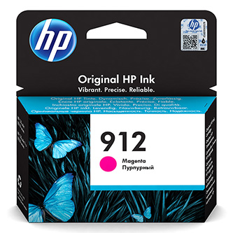 HP originální ink 3YL78AE, HP 912, magenta, 315str., high capacity, HP Officejet 8012, 8013, 8014, 8015 Officejet Pro 802