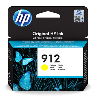 HP originální ink 3YL79AE, HP 912, yellow, 315str., high capacity, HP Officejet 8012, 8013, 8014, 8015 Officejet Pro 802