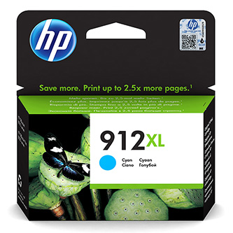 HP originální ink 3YL81AE, HP 912XL, cyan, 825str., high capacity, HP Officejet 8012, 8013, 8014, 8015 Officejet Pro 802
