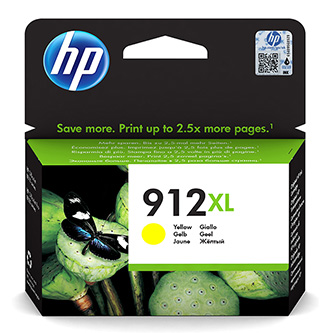 HP originální ink 3YL83AE#301, HP 912XL, yellow, blistr, 825str., high capacity, HP Officejet 8012, 8013, 8014, 8015 Officejet Pro