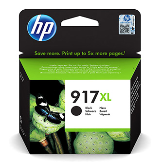 HP originální ink 3YL85AE, HP 917XL, black, 1500str., extra high capacity, HP Officejet Pro 8020, 8022, 8023, 8024, 8025