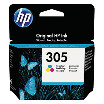 HP originální ink 3YM60AE, Tri-colour, 100str., HP 305, HP DeskJet 2300, 2710, 2720, Plus 4100