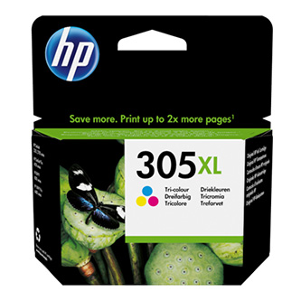 HP originální ink 3YM63AE#301, HP 305XL, Tri-colour, 200str., HP 305XL, High yield, HP DeskJet 2300, 2710, 2720, Plus 4100