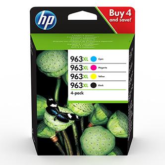 HP originální ink 3YP35AE, HP 963, CMYK, 1600CMY-2000Kstr., high capacity, HP Officejet Pro 9010, 9012, 9014, 9015, 9016, 9019/P
