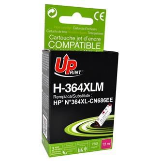 UPrint kompatibilní ink s CB324EE, CN686EE, HP 364XL, magenta, 12ml, H-364XLM, s čipem, pro HP Photosmart B8550, C5380, D5460