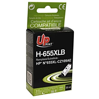 UPrint kompatibilní ink s CZ109AE, HP 655, black, 550str., 20ml, H-655XLB, pro HP Deskjet Ink Advantage 3525, 5525, 6525, 4615 e-A