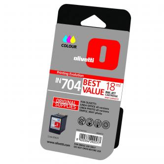 Olivetti originální ink B0629, color, 18ml, high capacity, Olivetti Olivetti Linea Office/ Olivetti Linea Office Wifi