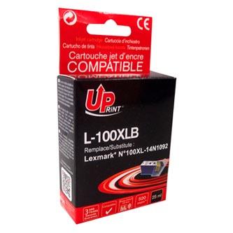 UPrint kompatibilní ink s 14N1068E, L-100XLB, black, 520str., 25ml, pro Lexmark S305, 405, 505, 605, PRO205, 705, 805, 905