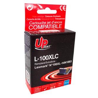 UPrint kompatibilní ink s 14N1069E, L-100XLC, cyan, 600str., 13ml, pro Lexmark S305, 405, 505, 605, PRO205, 705, 805, 905