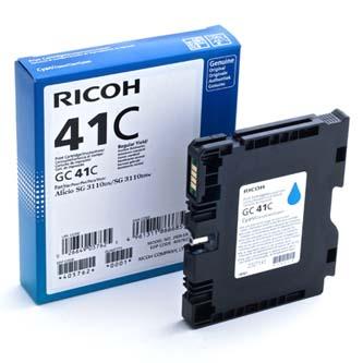 Ricoh originální gelová náplň 405762, cyan, 2200str., GC41HC, Ricoh AFICIO SG 2110N, 3110DN, 3110DNW