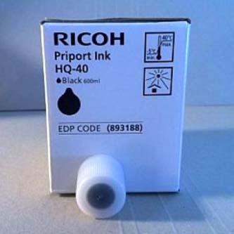 Ricoh originální inkoust 817225, black, 600ml, Ricoh JP4500, 4550
