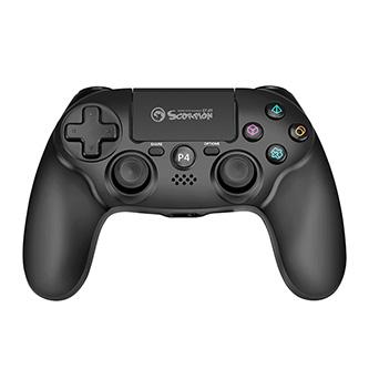 Gamepad Marvo Li-Ion, GT-64, bezdrátový, 15tl., všesměrový ovladač, USB/PS4, černý, touchpad, dvojité vibrace, 3D senzor, G-senzor