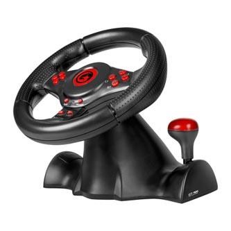 Volant Marvo GT-900, volant s pedály a řadící pákou, 16tl., USB, černý, pro PC/PS3/Xbox, WinXP a vyšší