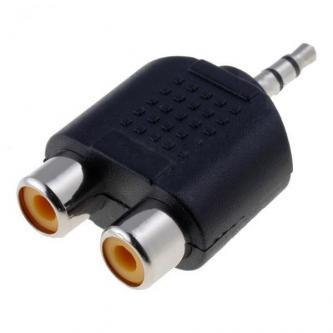Audio Redukce, Jack (3,5mm) M-Cinch 2x F, 0, stereo, černá, Logo